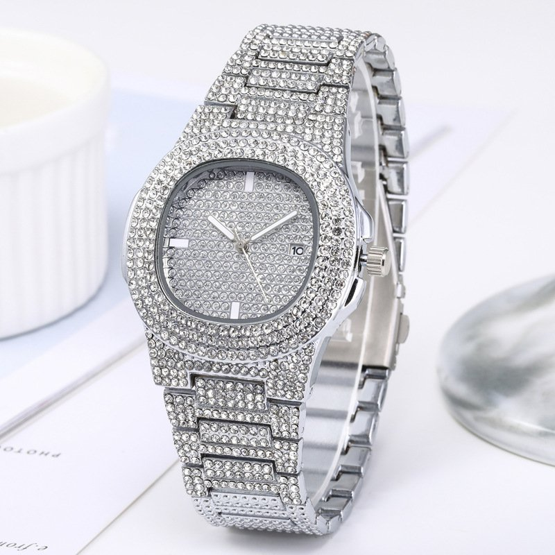 Original Crystal gold & Silver Plated watch