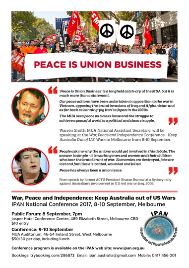 Peace is union business