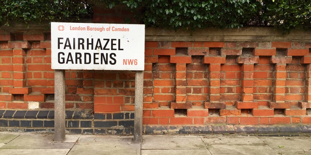 Fairhazel Gardens sign