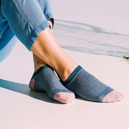 Sneakersokken blauw caviar van Healthy Seas Socks