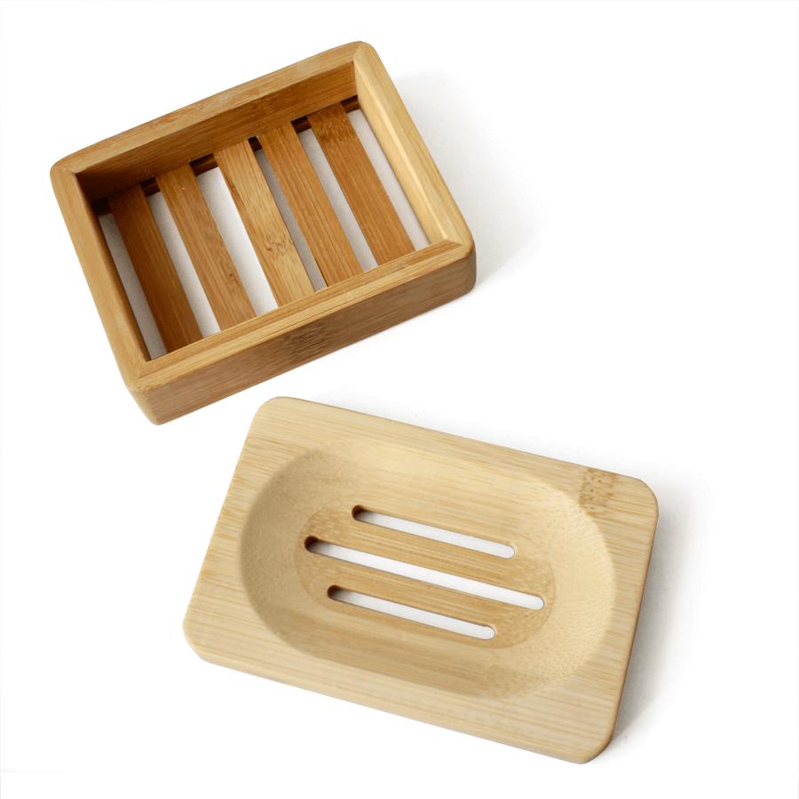 bamboe zeepschaaltje en bamboe zeepbakje
