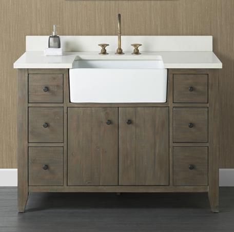 farmhouse sink bathroom vanity 48
