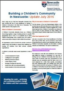 Thumbnail: Newcastle children's community update