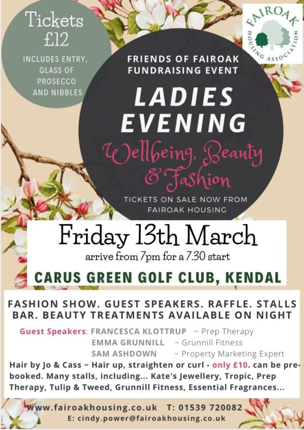 Ladies Evening – Wellbeing, Beauty & Fashion