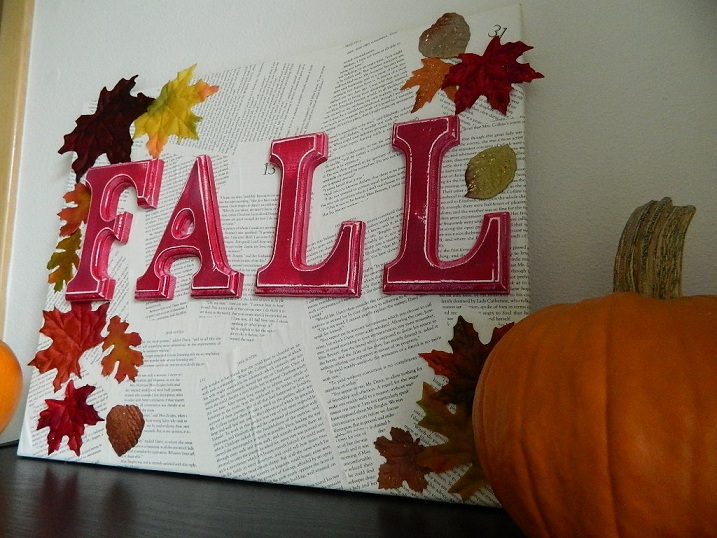 DIY Fall Canvas Wall Décor
