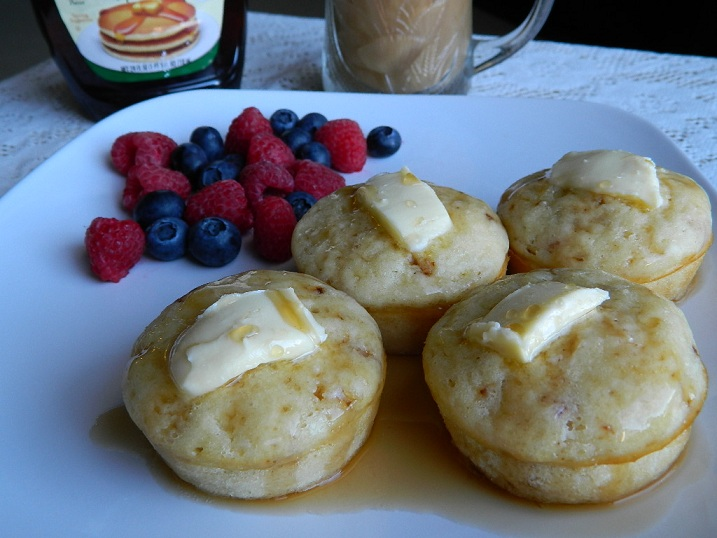 Brown Sugar Bacon Pancake Muffins