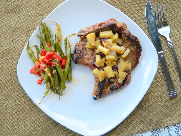 Tattooed Martha - Spiced Pork Chops with Cranberry Apple Chutney (12)
