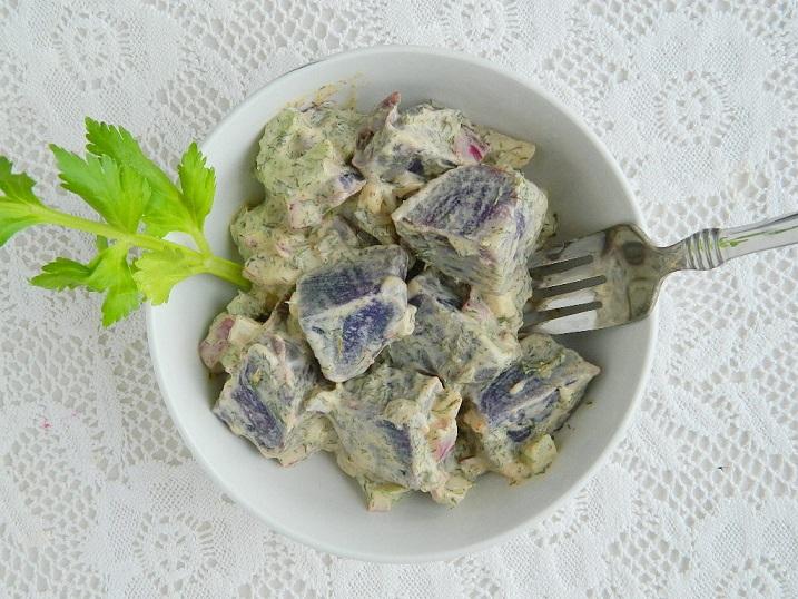 Zesty Purple Potato Salad