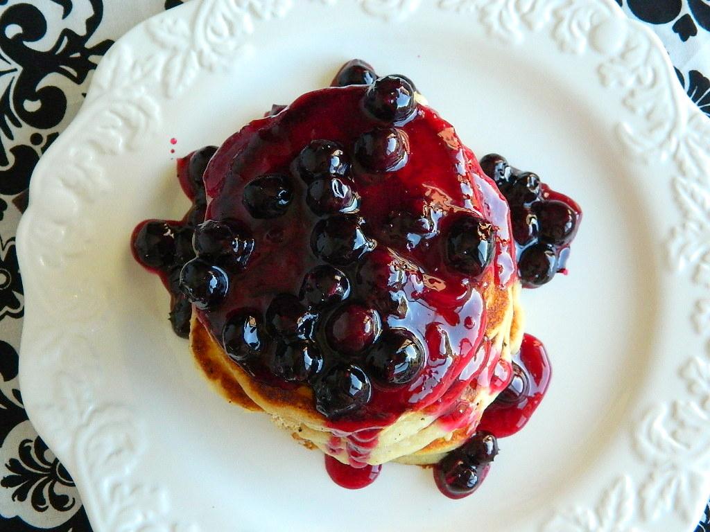 Tattooed Martha - Fluffy Buttermilk Pancakes with Homemade Blueberry Sauce (13)