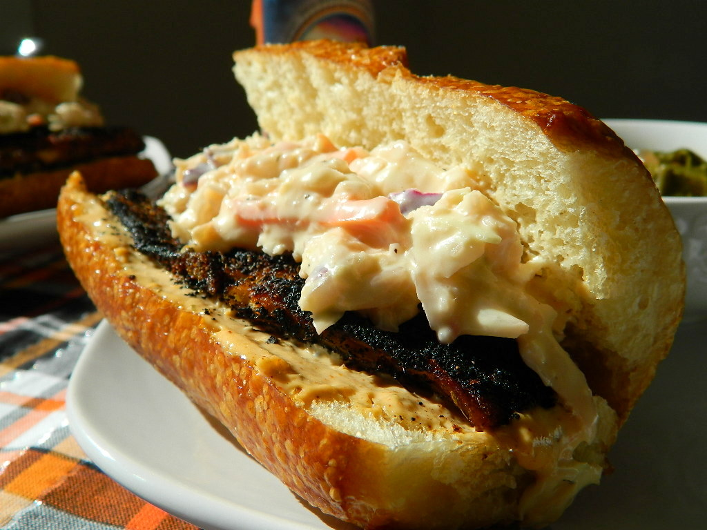 Tattooed Martha - Blackened Cajun Tilapia Po-Boys with Remoulade (5)