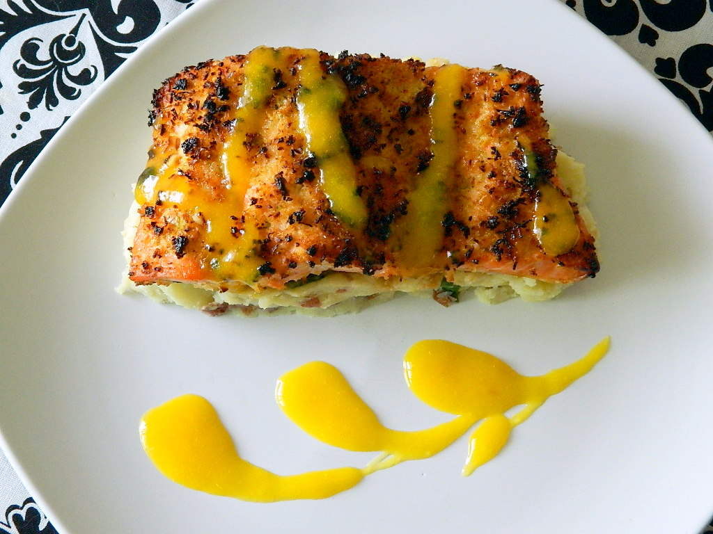 Tattooed Martha - Coconut Crusted Salmon with Mango Rum Sauce (10)