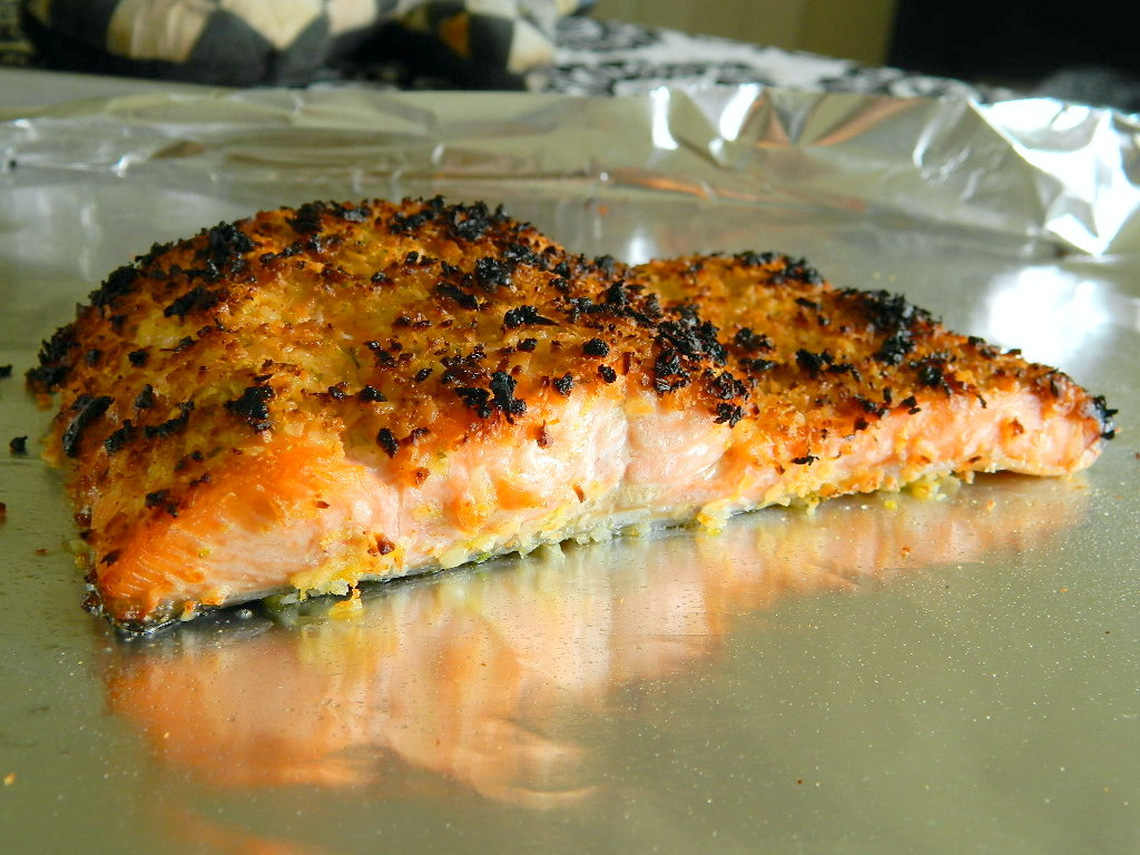 Tattooed Martha - Coconut Crusted Salmon with Mango Rum Sauce (9)