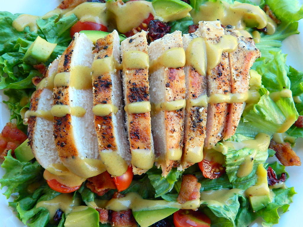 Tattooed Martha - Grilled Chicken Salad with Tangy Honey Mustard Dressing (7)