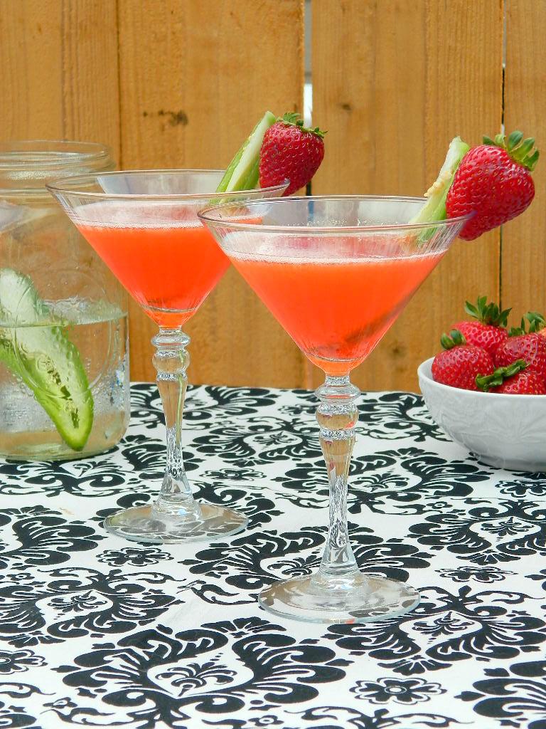 Strawberry Jalapeno Martinis