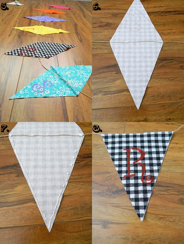 Tattooed Martha - No-Sew Scrap Fabric Banner (9)