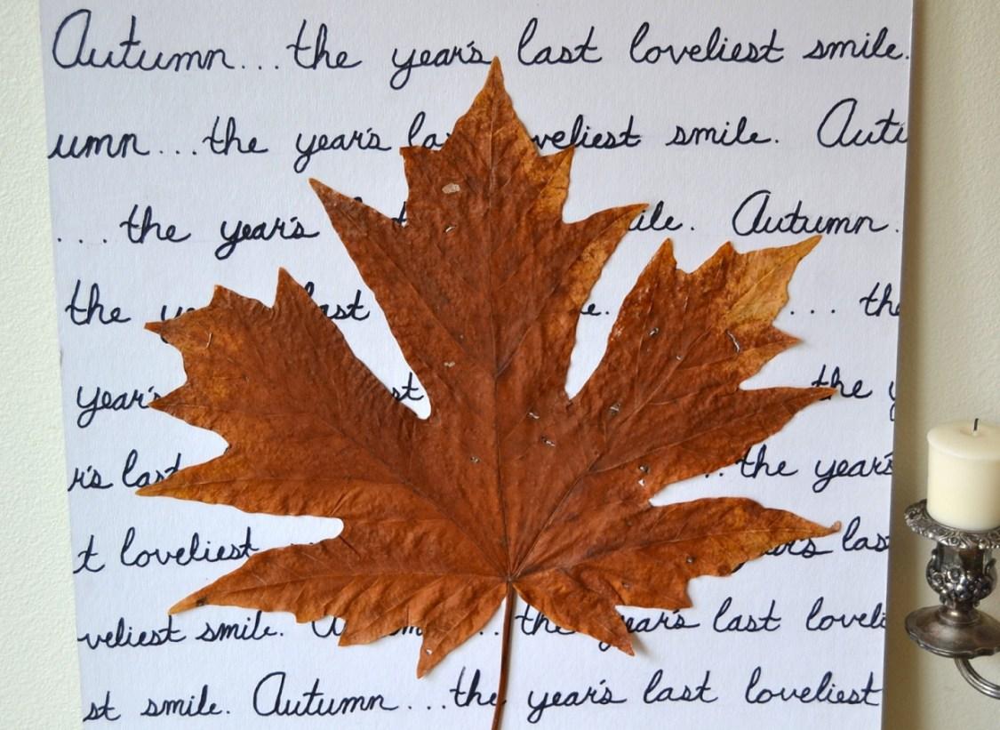 Tattooed Martha - Autumn Leaf Wall Art (9)