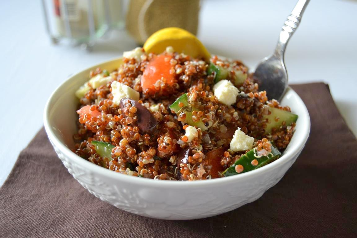 Greek Red Quinoa Salad