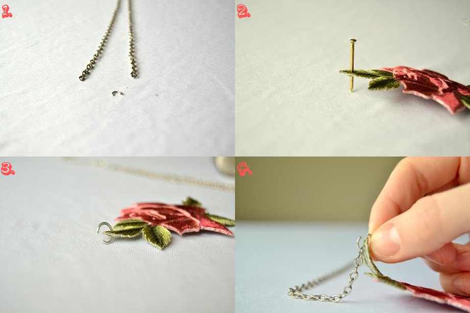 Tattooed Martha - Rose Patch Necklace (2)