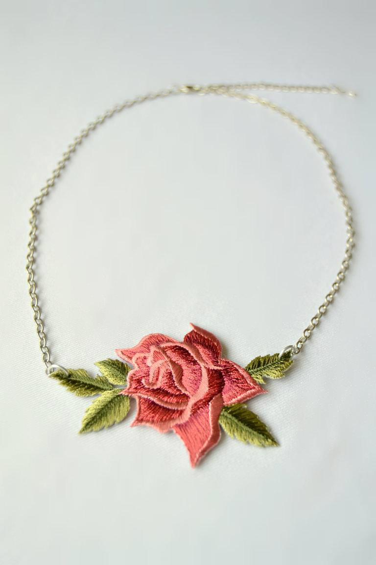 Tattooed Martha - Rose Patch Necklace (3)