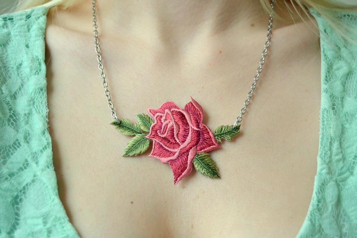 Rose Patch Necklace