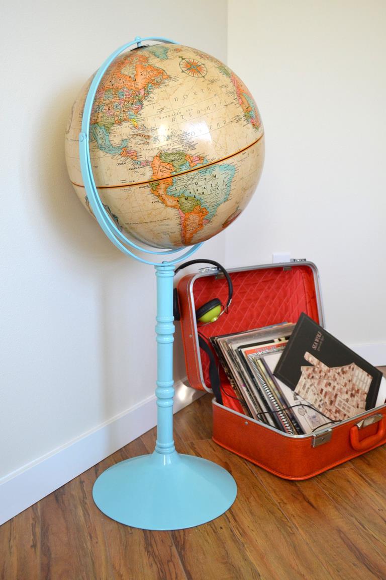 Vintage Globe Makeover