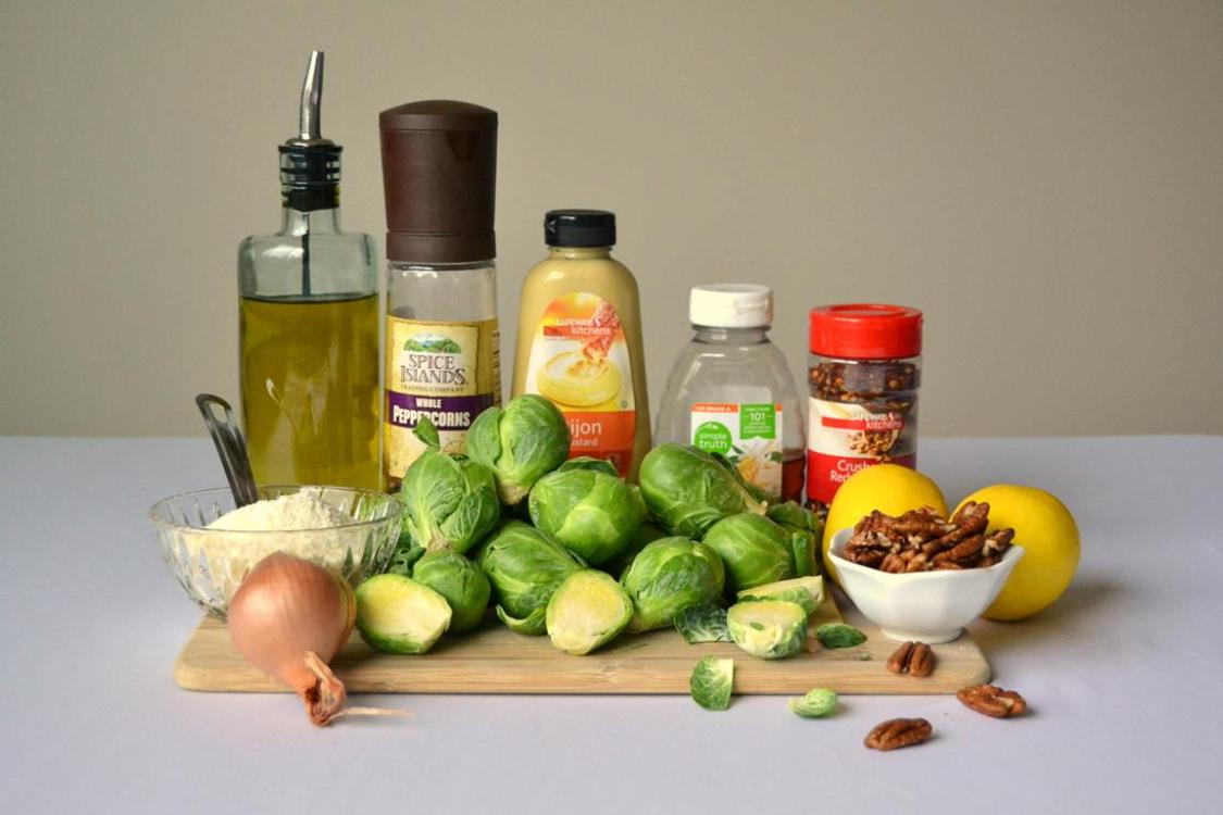Tattooed Martha - Warm Brussels Sprouts Salad with Lemon Dressing (1)