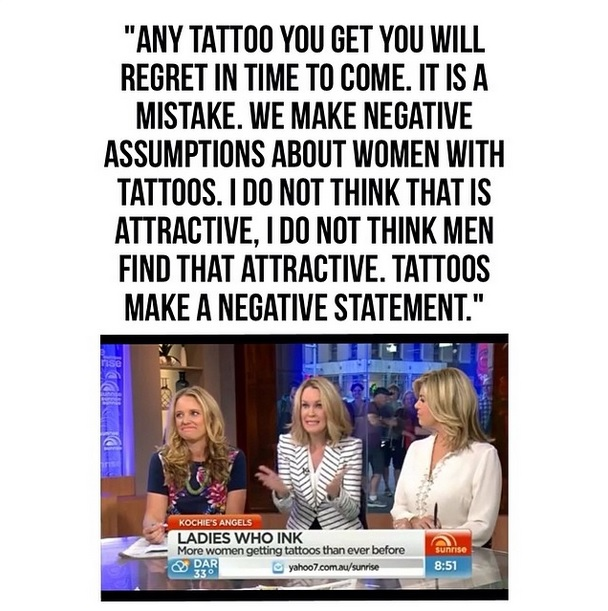 Tattoosday: Same Stereotype, Different Day