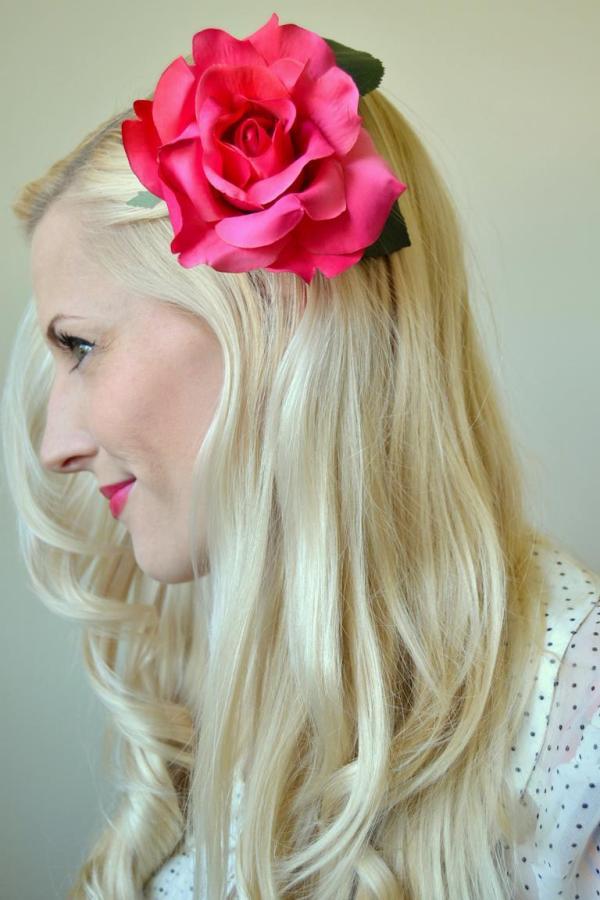 Tattooed Martha - DIY Hair Flower Clips (2)