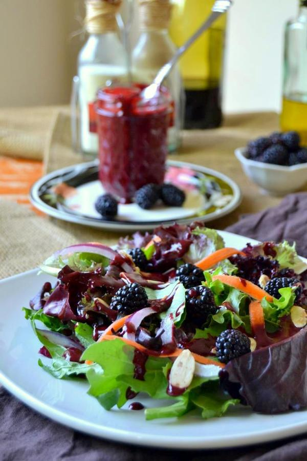 Tattooed Martha - Mixed Greens Salad with Blackberry Vinaigrette (7)