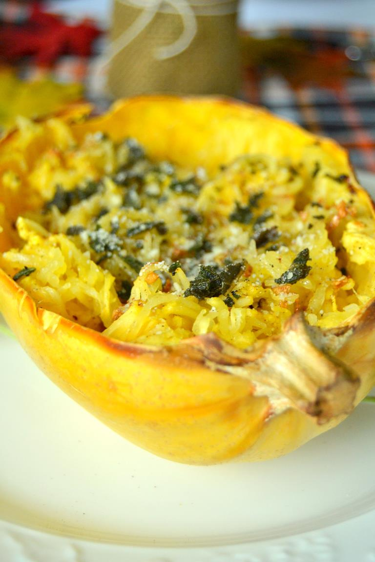Tattooed Martha - Roasted Spaghetti Squash with Brown Butter, Garlic, and Sage (7)