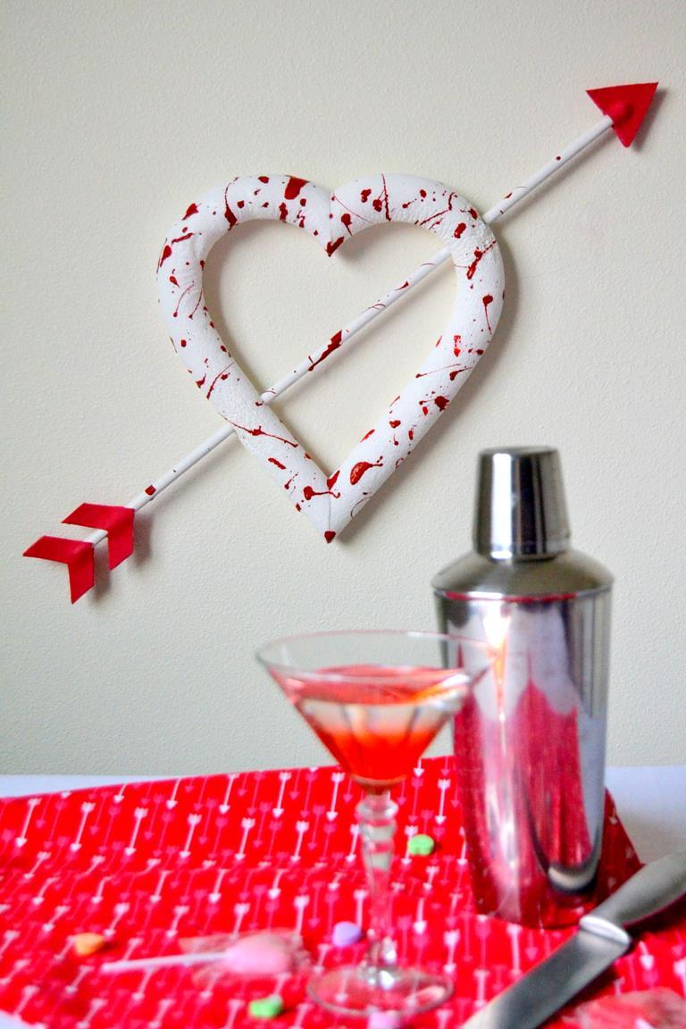 Bloody Valentine Heart Wreath