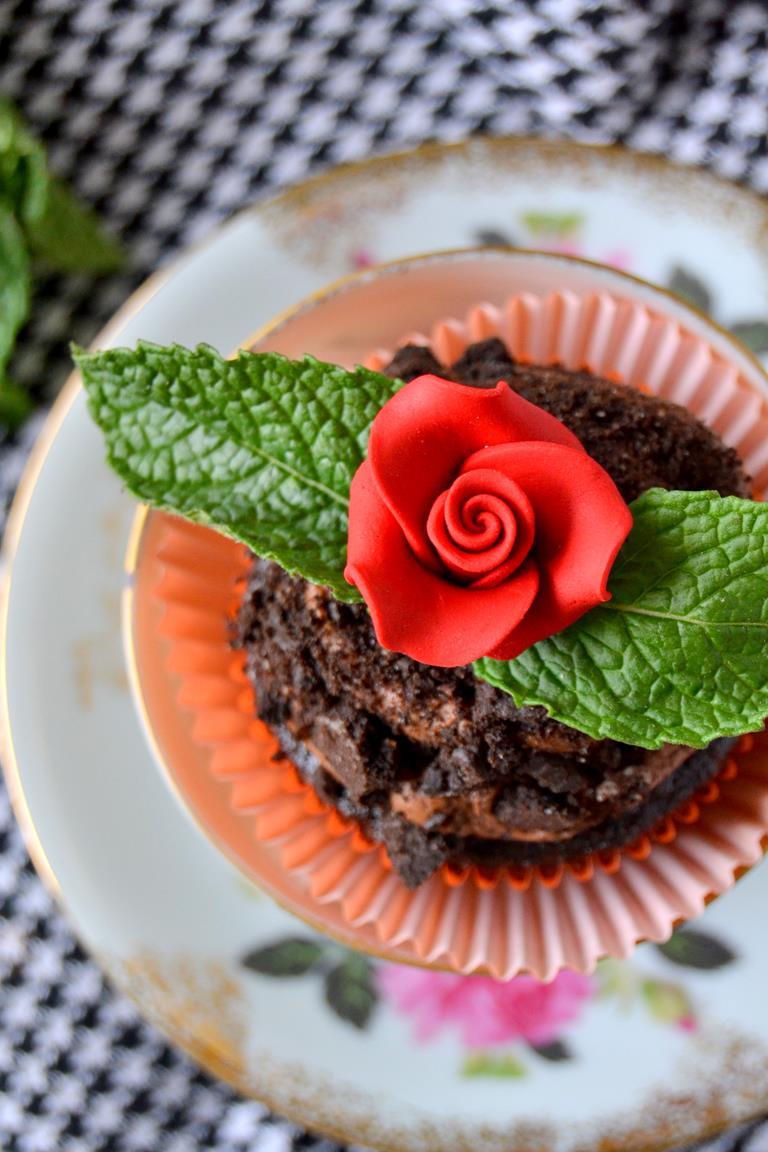 Tattooed Martha - Chocolate Potted Mint Cupcakes (9)