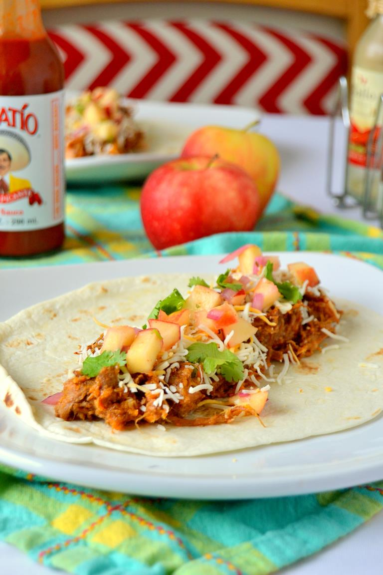 Spicy Tequila Carnitas with Apple Salsa