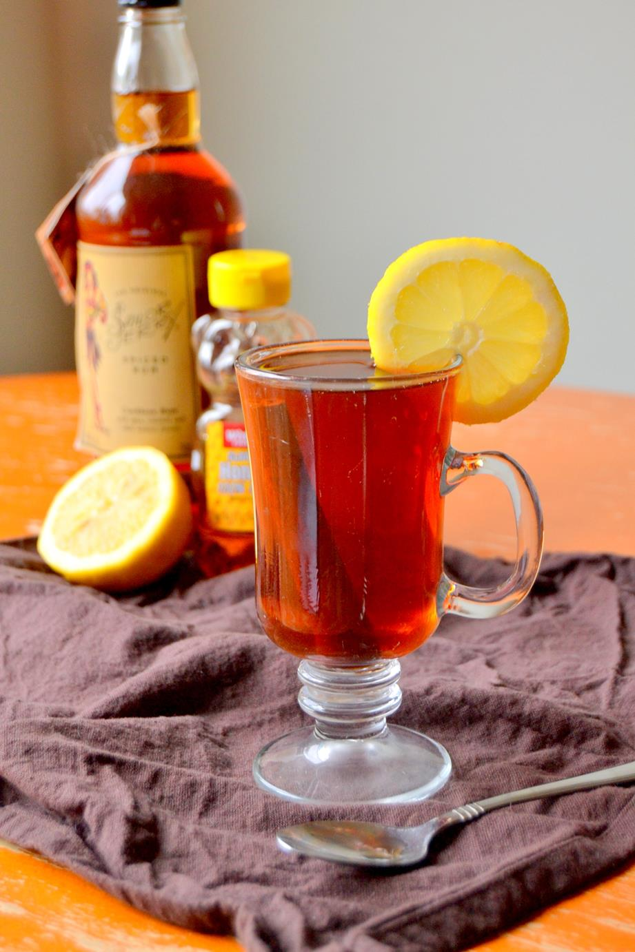 Black Tea Hot Toddy with Rum