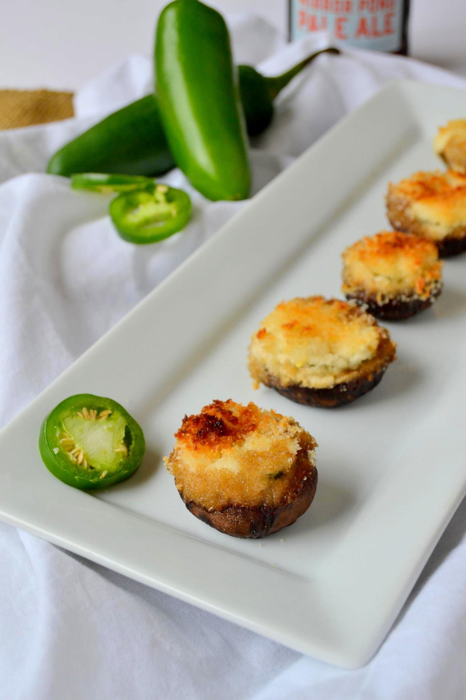 Jalapeno Popper Stuffed Mushrooms