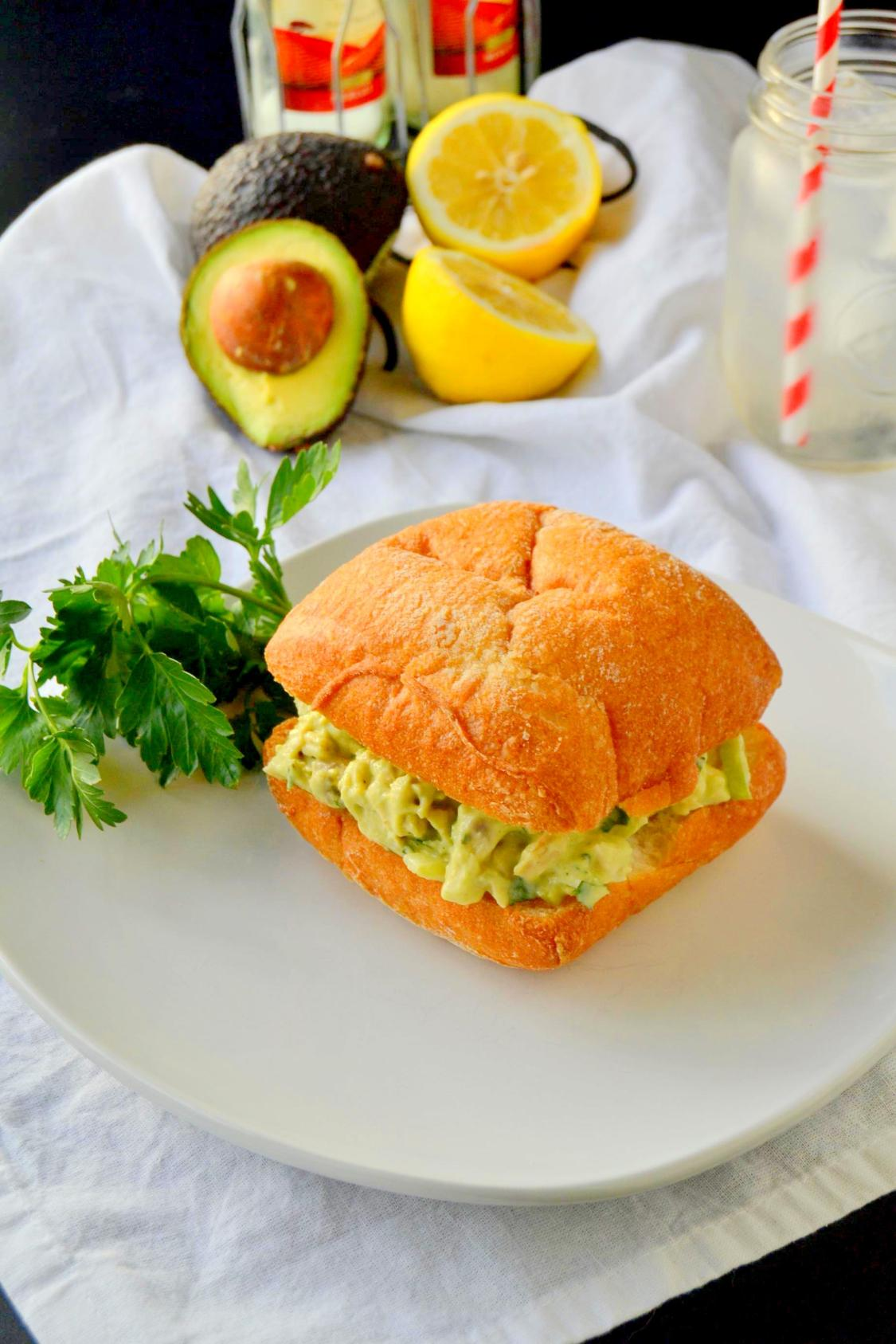 Lemon Avocado Chicken Salad on TattooedMartha.com (7)