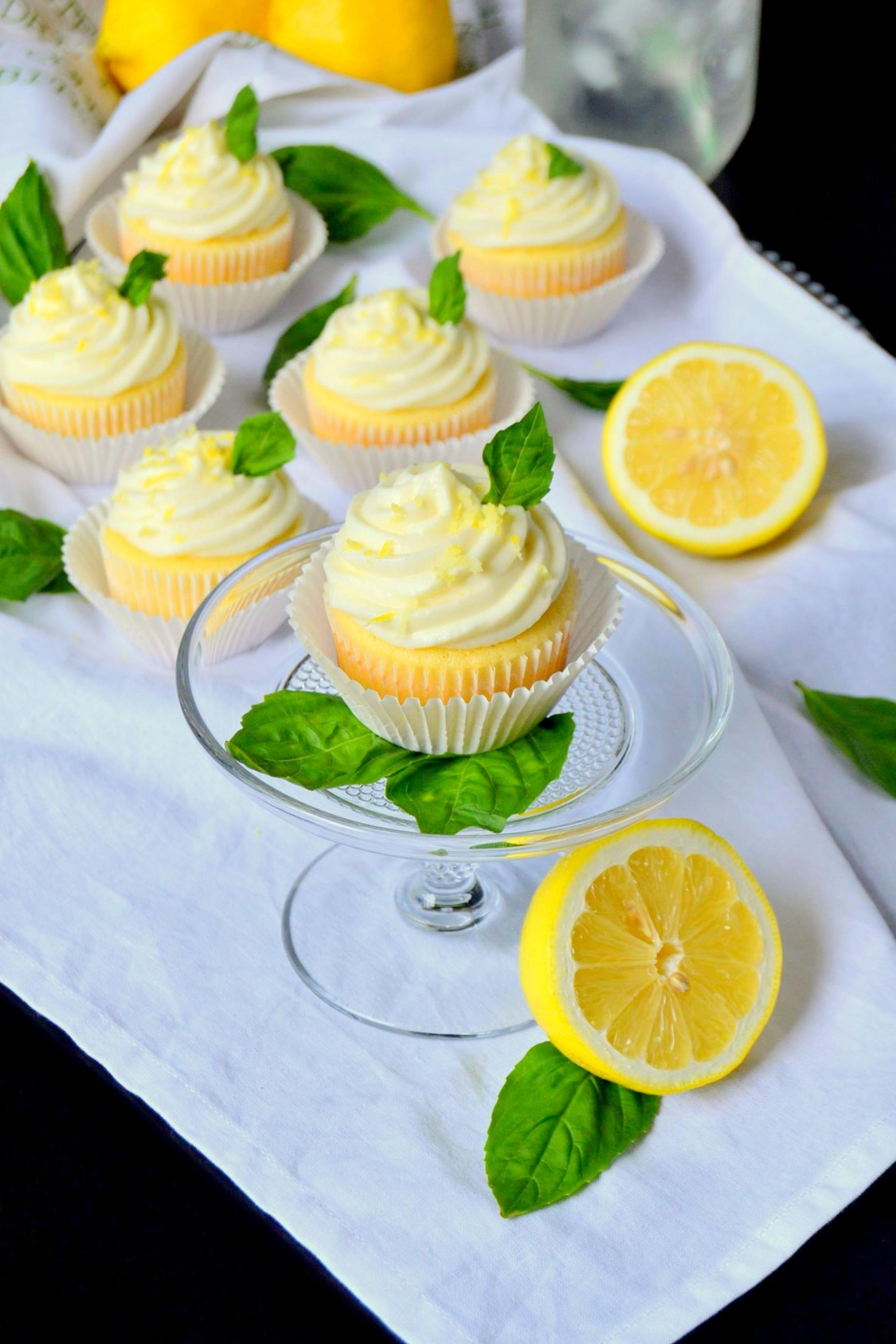 Tattooed Martha - Lemon Cupcakes with Basil Whipped Cream Frosting (6)