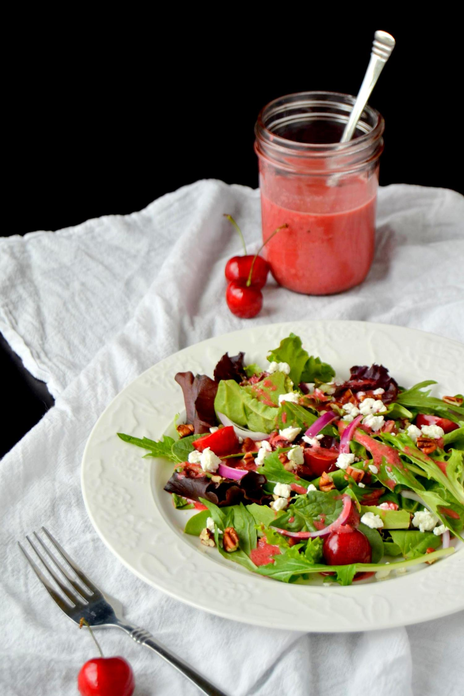 Mixed Greens Salad with Cherry Vinaigrette