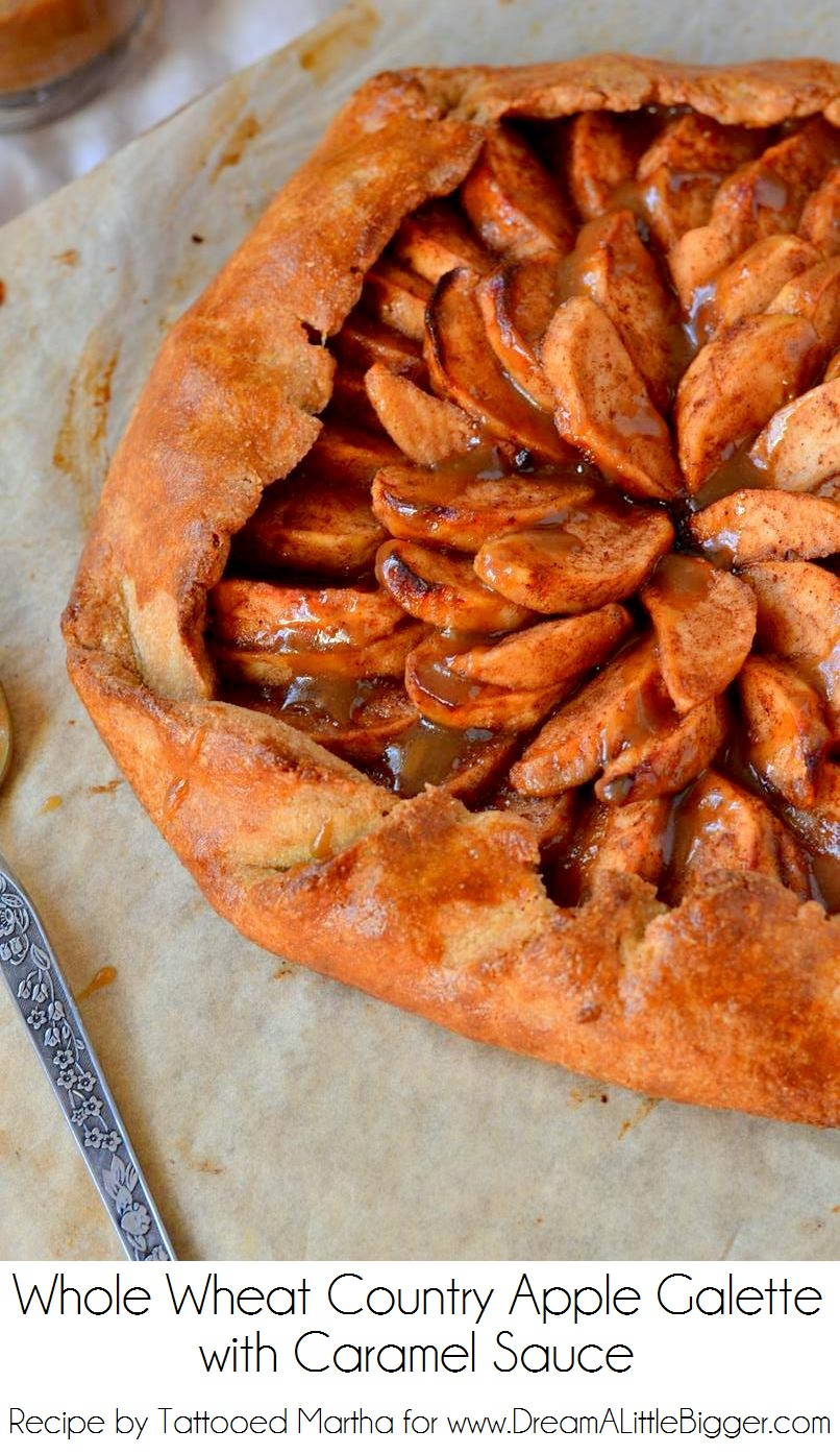 Tattooed Martha - Whole Wheat Country Apple Galette with Caramel Sauce