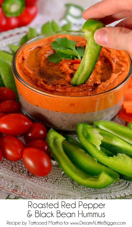 Roasted Red Pepper and Black Bean Hummus at DALB