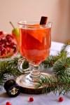 Pomegranate Pear Cider Rum Cocktail