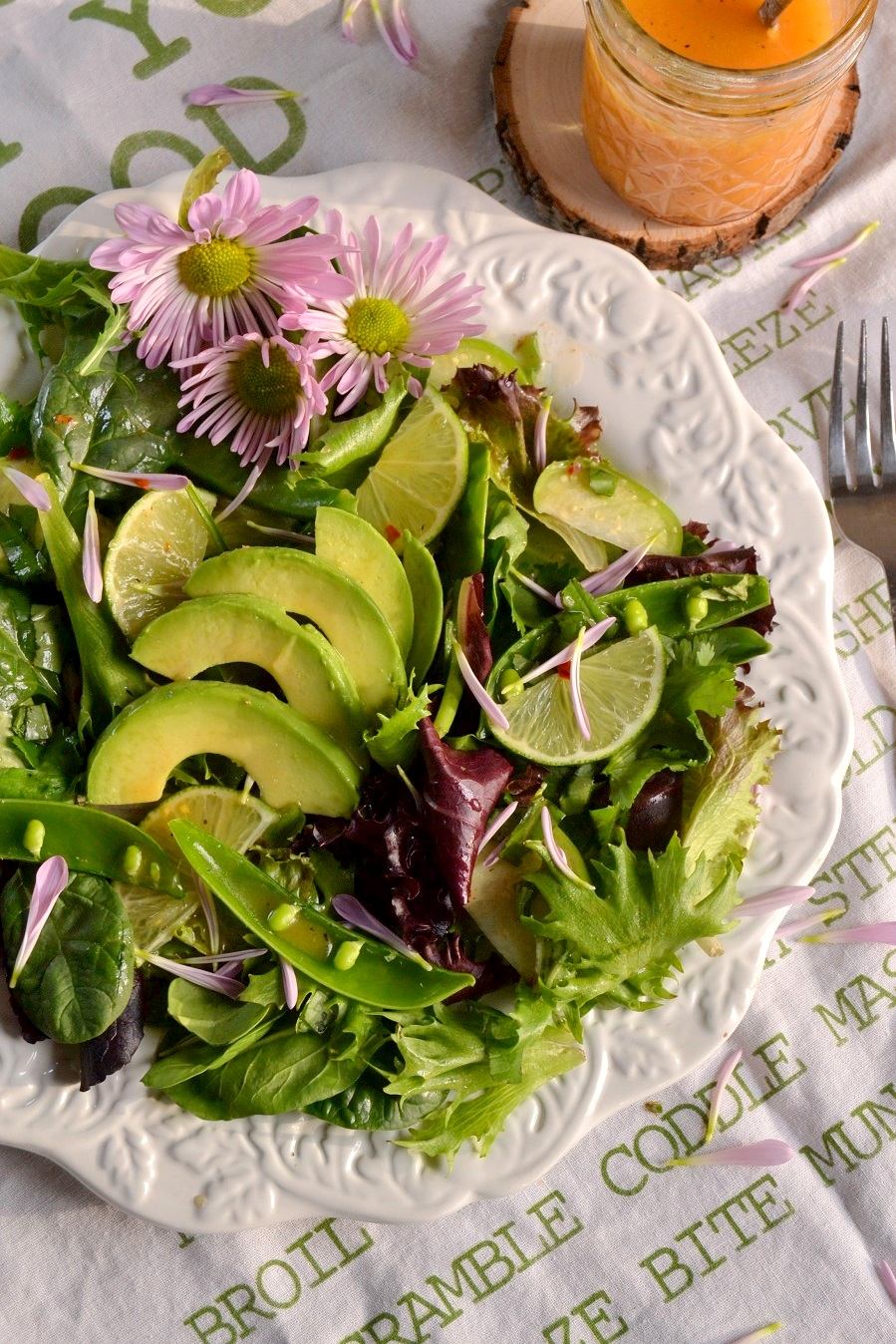 Spring Salad with Chile Lime Vinaigrette