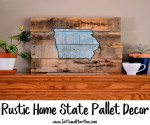 Rustic Home State Pallet Decor