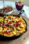 Chicken Skillet Nachos with Pomegranate Salsa