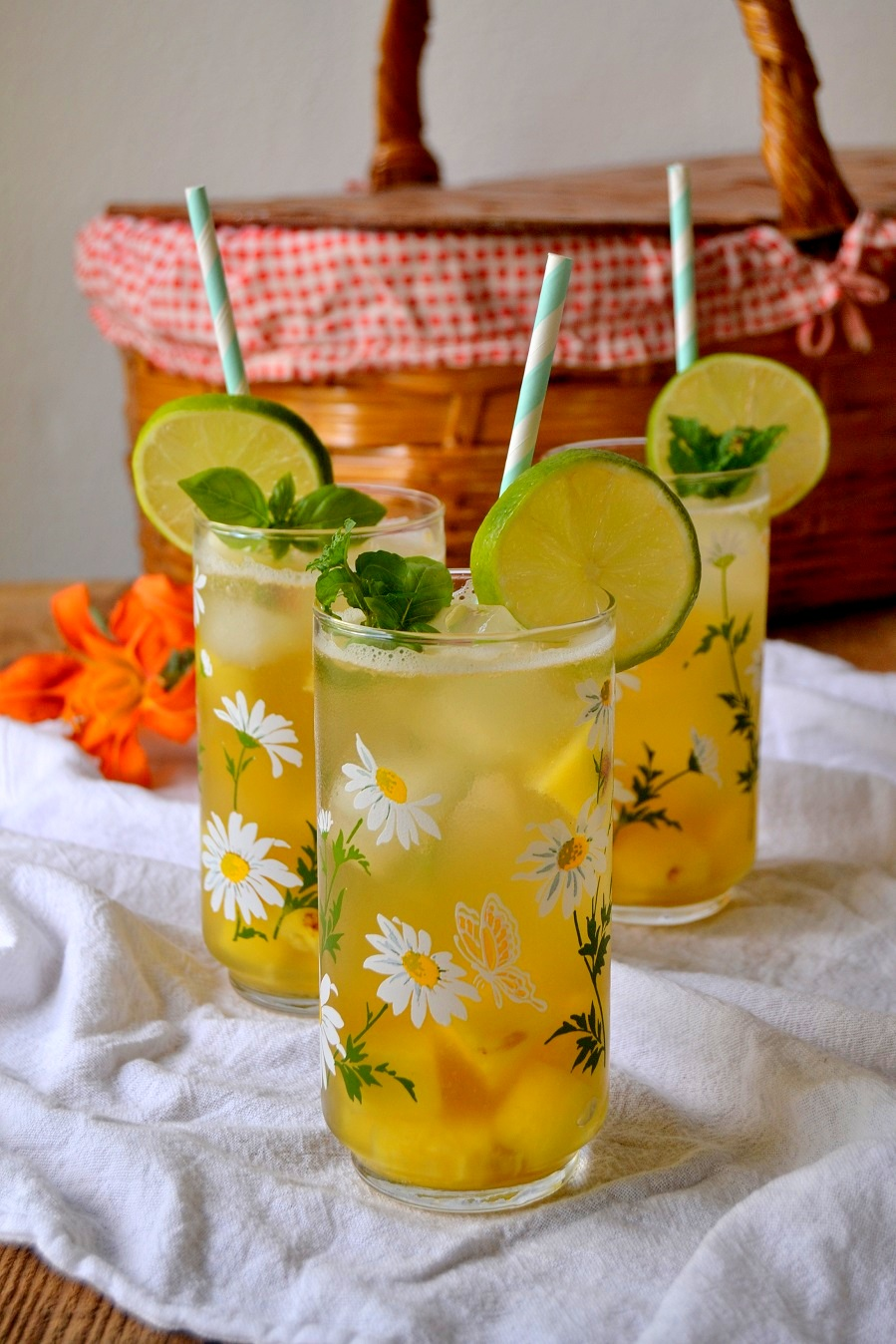 Pineapple Basil Sangria