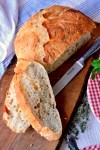 No-Knead Crusty Herb Bread