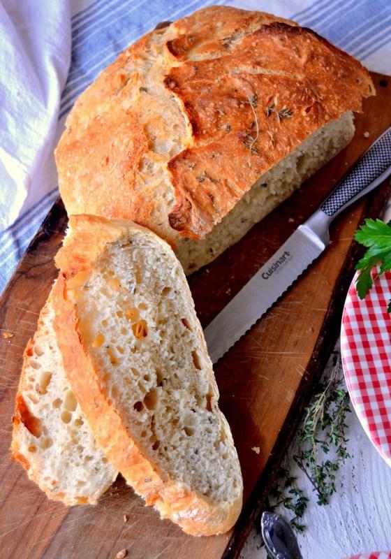 Fair Robin Revival - No-Knead Crusty Herb Bread