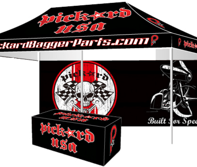Promotional Event Tent For Tradeshow Athletic Events With Graphics Tent With Graphics Custom Flags Custom Table Covers And Custom Backwall  C B Ez Up