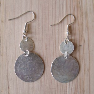 Fair Trade Silver plate coin earrings JEBS2