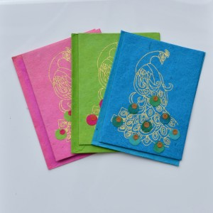 Fair Trade Cards Lotka peacocks pack of three – CPlp